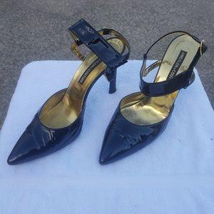 Anne Klein Black Patent Women's Shoes Size 9M